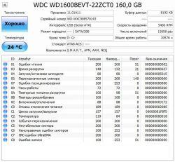 Б.у. жесткий диск WD 160GB