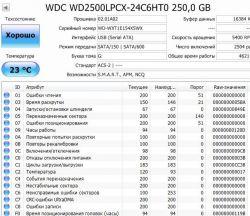 Б.у. жесткий диск WD 250GB