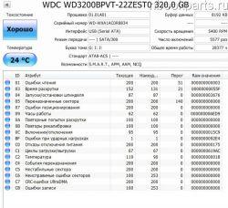 Б.у. жесткий диск WD 320GB
