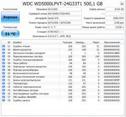 Б.у. жесткий диск WD 500GB