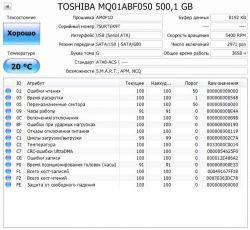 Б.у. жесткий диск Toshiba 500GB