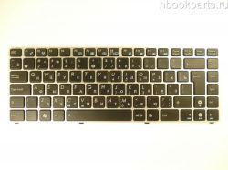 Клавиатура Asus Eee PC 1201 1215 UL20 (серебряная рамка)