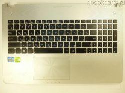Палмрест с тачпадом, клавиатурой и подсветкой Asus N56 (дефект)