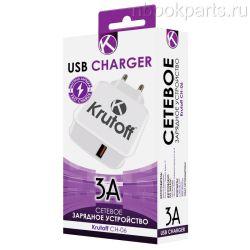 Сетевое зарядное устройство 3А с USB выходом