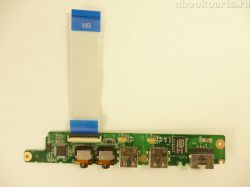 Audio/ USB/ LAN плата Lenovo IdeaPad S10-3