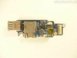 USB/ LAN/ COM плата Dell D620 (PP18L)