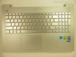 Палмрест с тачпадом и клавиатурой подсветкой Asus N550J